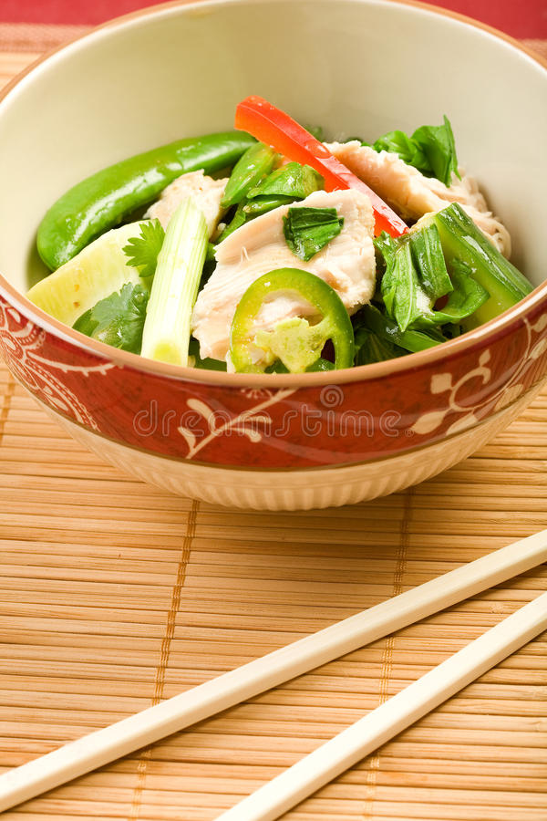 Download Asian Chicken Salad stock image. Image of cilantro, chopsticks - 9647779