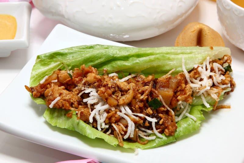 Asian Chicken Wrap Stock Photo