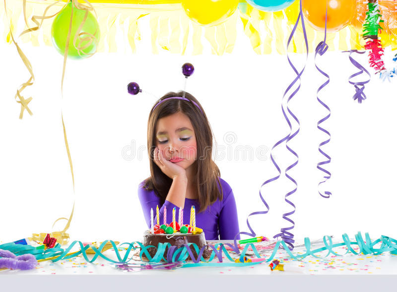 Download Asian Child Sad Bored Kid Girl In Birthday Party Stock Photo - Image: 28522478