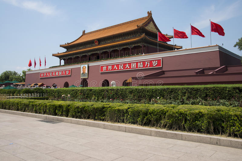 Asian China, Beijing, Tiananmen royalty free stock photo