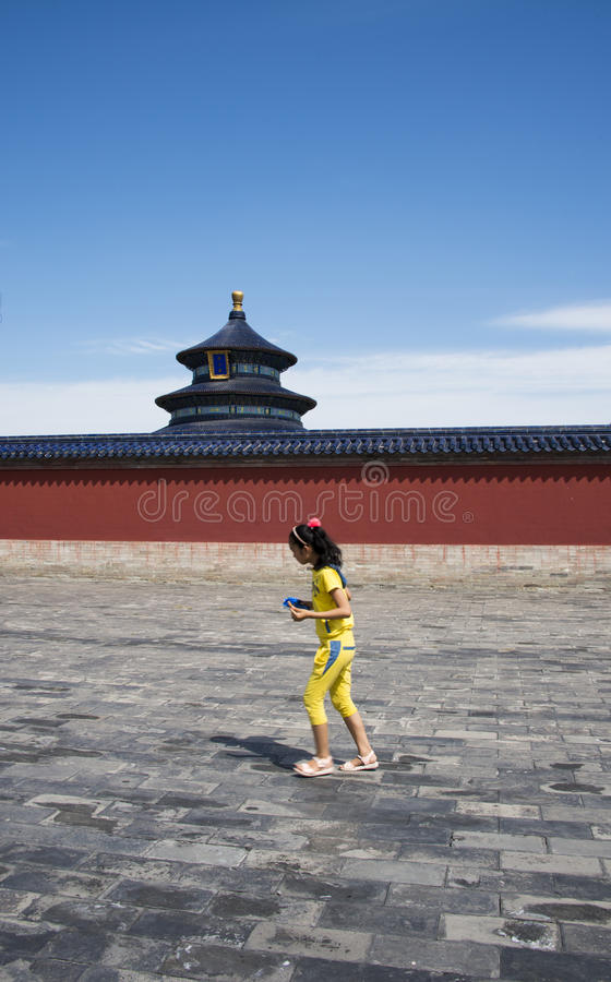 Asian China, Beijing, Tiantan, historic buildings,qinian temple stock images