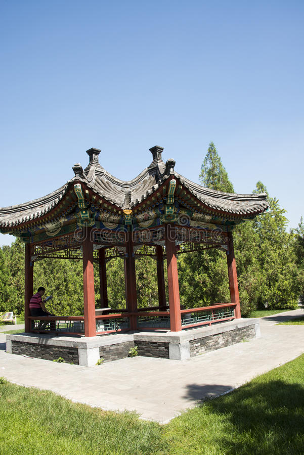 Asian Chinese, Beijing, Ditan Park, double Pavilion. Asian China, Beijing, Ditan Park, the biggest sacrifices to the altar royalty free stock photography