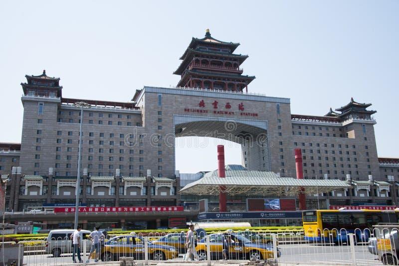 Asian Chinese, Beijing Railway Station stock photos