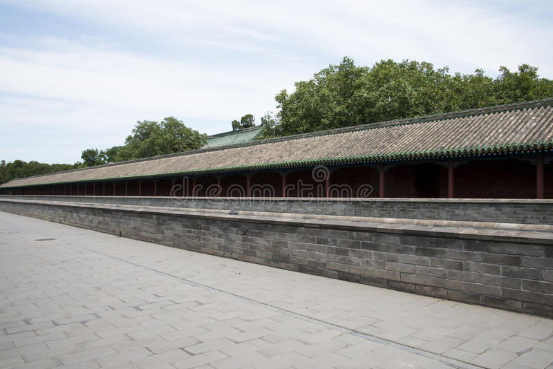 Asian Chinese, Beijing, Tiantan Park, Palace of Abstinence;zhaigong. Asian China, Beijing, Tiantan Park, a world cultural heritage site, emperor worship heaven royalty free stock photo