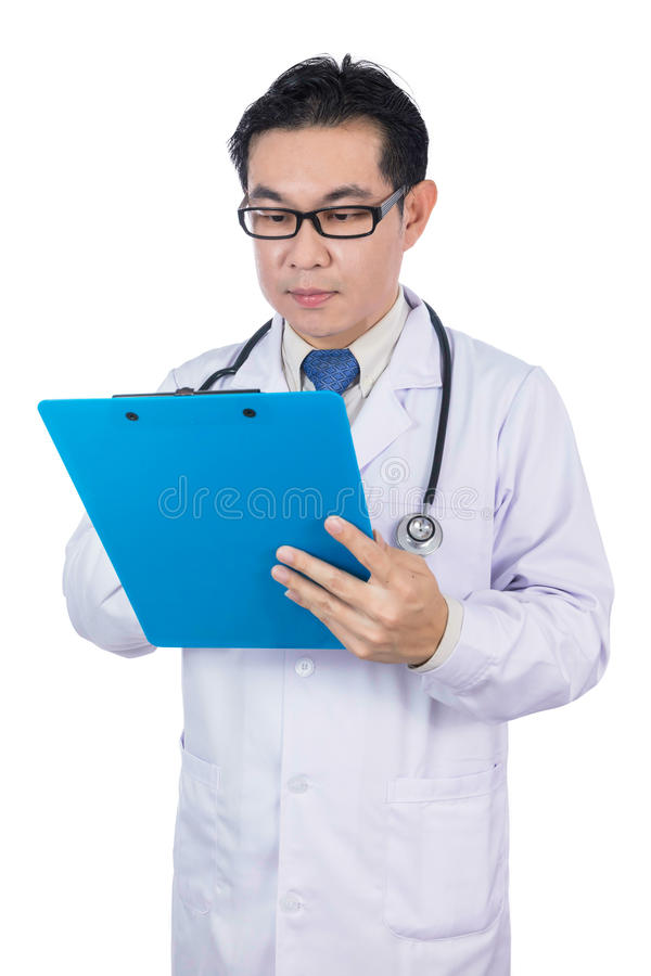 Asian Chinese male doctor with stethoscope stock photography