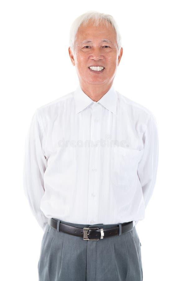 Asian Chinese senior businessman stock images