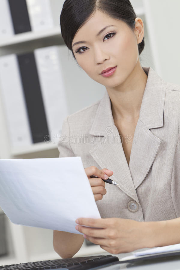 Download Asian Chinese Woman Or Businesswoman In Office Stock Photos - Image: 25263893