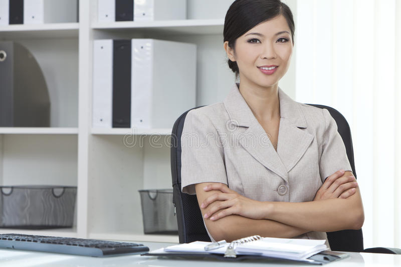 Download Asian Chinese Woman Or Businesswoman In Office Stock Photo - Image: 25263902