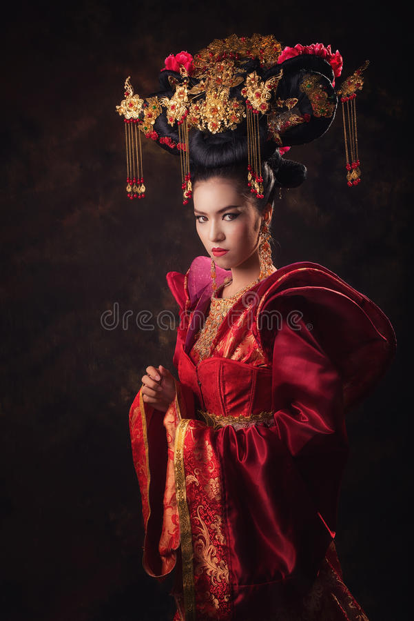 Asian Chinese women royalty free stock photo