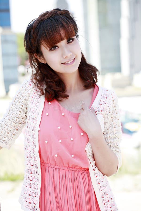 Asian city girl royalty free stock photo