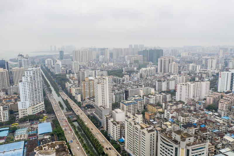 Asian city aerial royalty free stock images