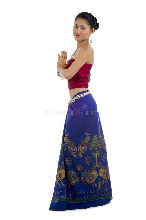 Asian com expressão bem-vinda imagens de stock royalty free