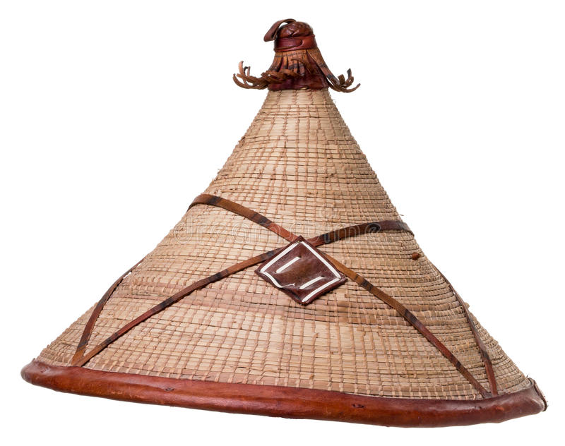 Download Asian Conical Straw Hat Over White Stock Image - Image: 27355267