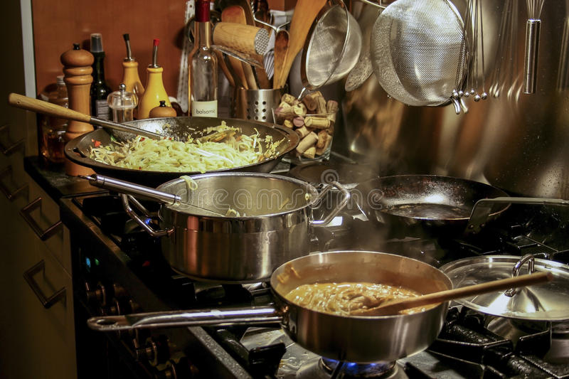 Asian cooking stock images