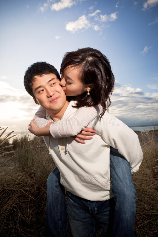 Asian couple stock images