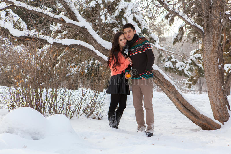 Download Asian couple in love stock photo. Image of girl, winter - 39617812