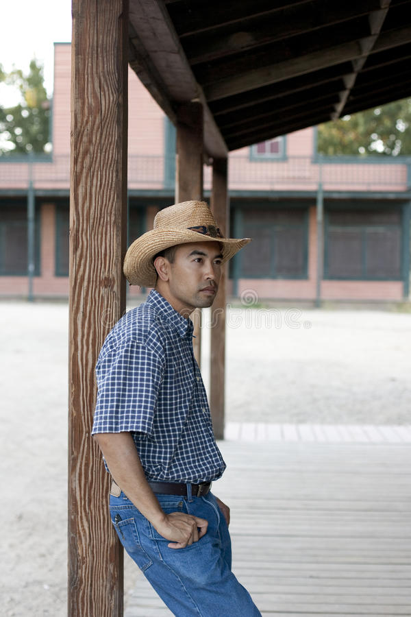 Download Asian Cowboy stock image. Image of west, style, leaning - 20898945
