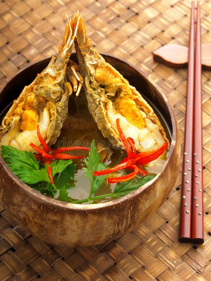 Asian crayfish curry. Hot and spicy asian crayfish curry royalty free stock images