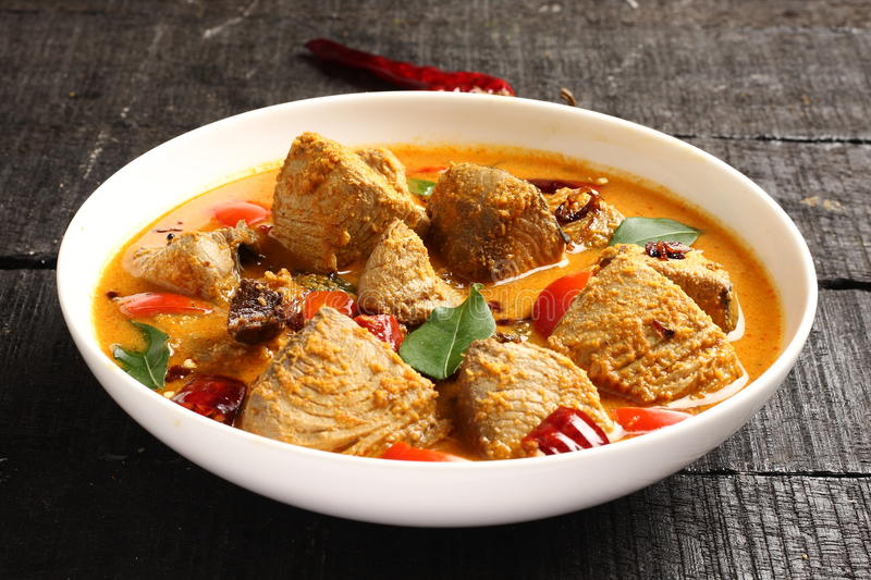 Asian cuisine-Fish curry. Made of fresh tuna royalty free stock images