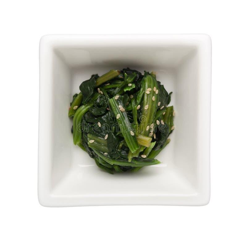 Asian cuisine - Japanese vegetable salad royalty free stock photo