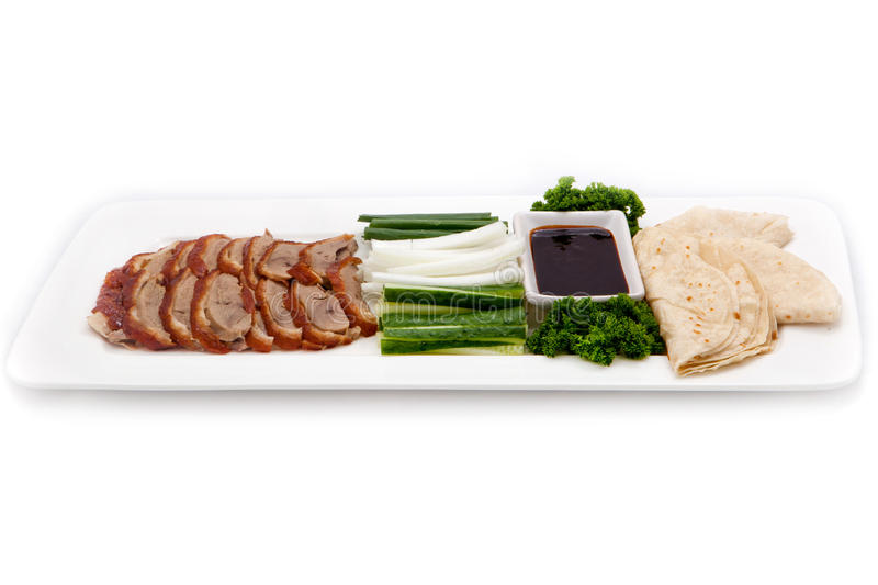 Asian cuisine Peking duck royalty free stock photography