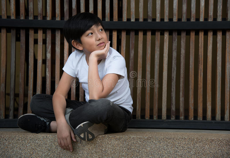 Asian cute boy stock photos