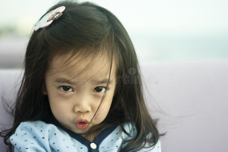 Download Asian cute little girl stock image. Image of fashion - 25699855