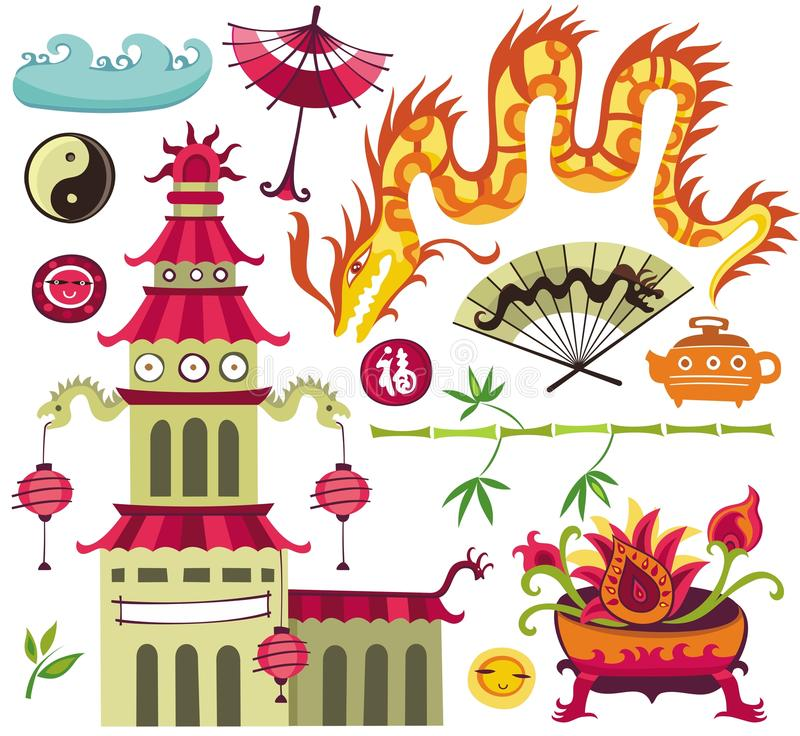 Free Asian Design Elements. Stock Images - 10398484