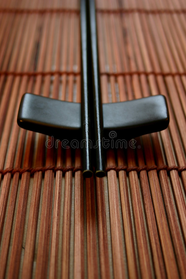 Free Asian Dining Set - Chopsticks And The Holder Stock Image - 463031