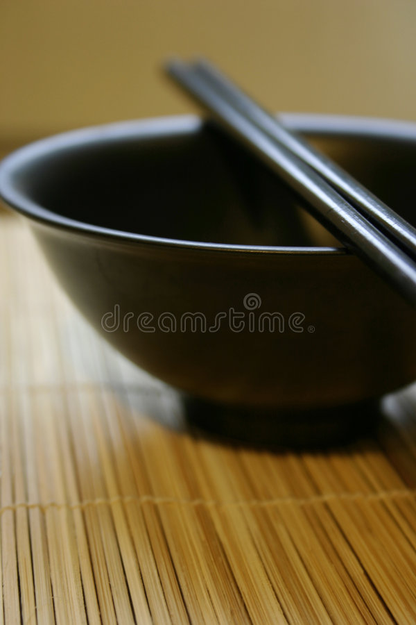 Download Asian Dining Set - Chopsticks And Bowl Stock Photo - Image of serene, saucer: 462976