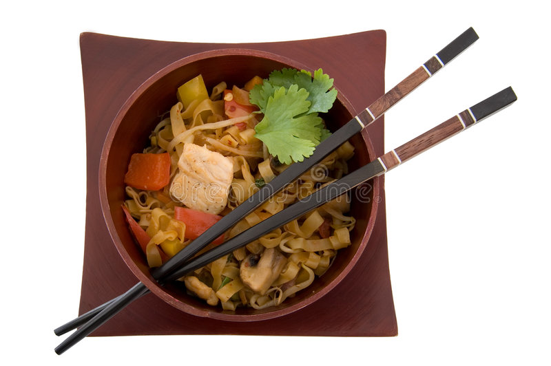 Download Asian Dinner stock image. Image of cuisine, bowl, chicken - 5239835