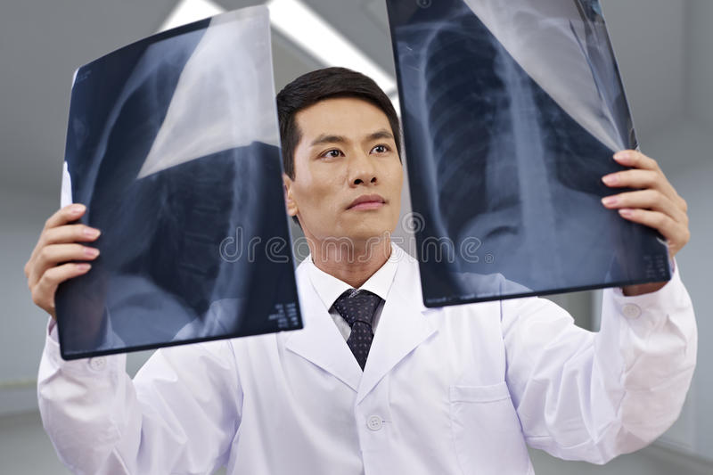 Asian doctor at work royalty free stock image
