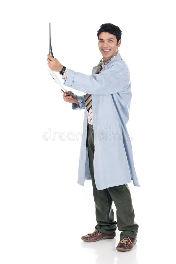 Asian doctor x-ray
