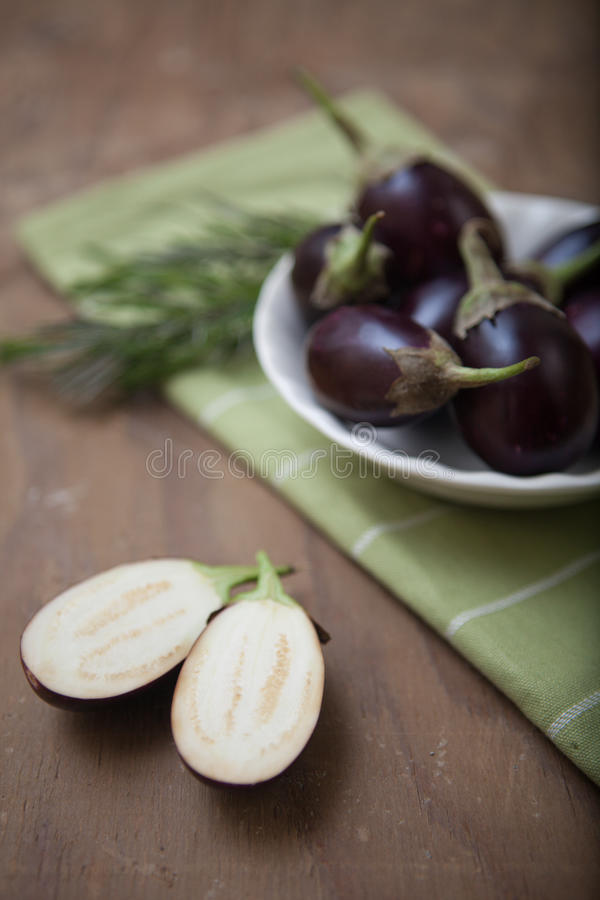 Asian Eggplants stock images