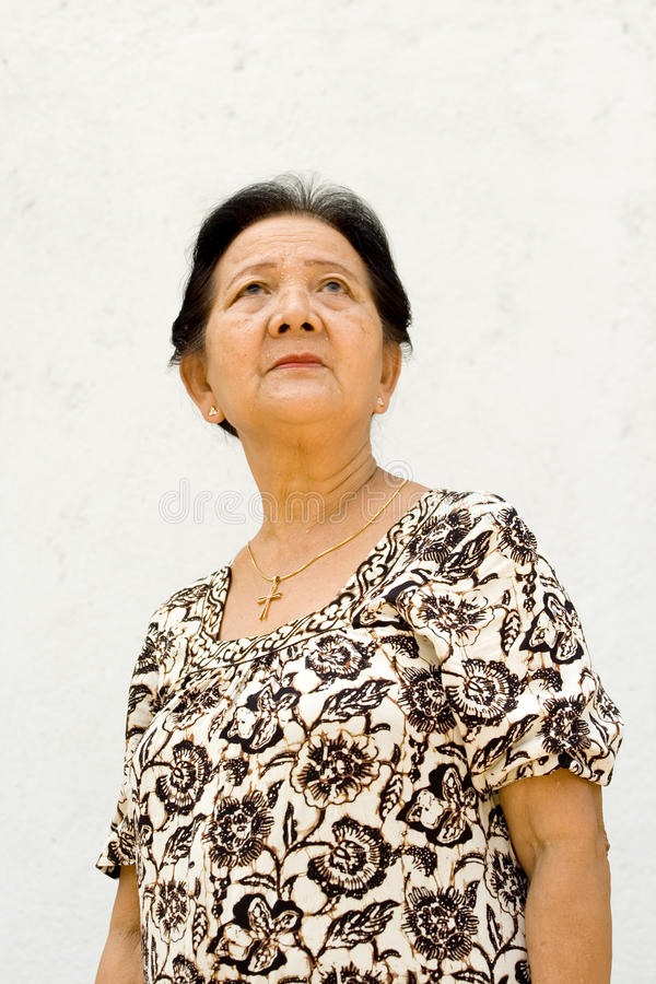 Asian elderly woman stock photography