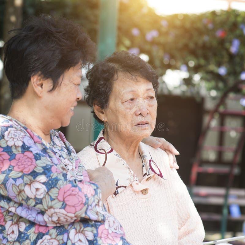 Asian elderly women royalty free stock photo