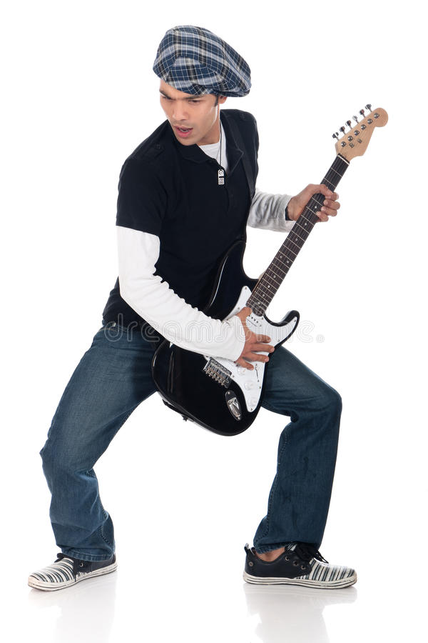 Asian guitar player