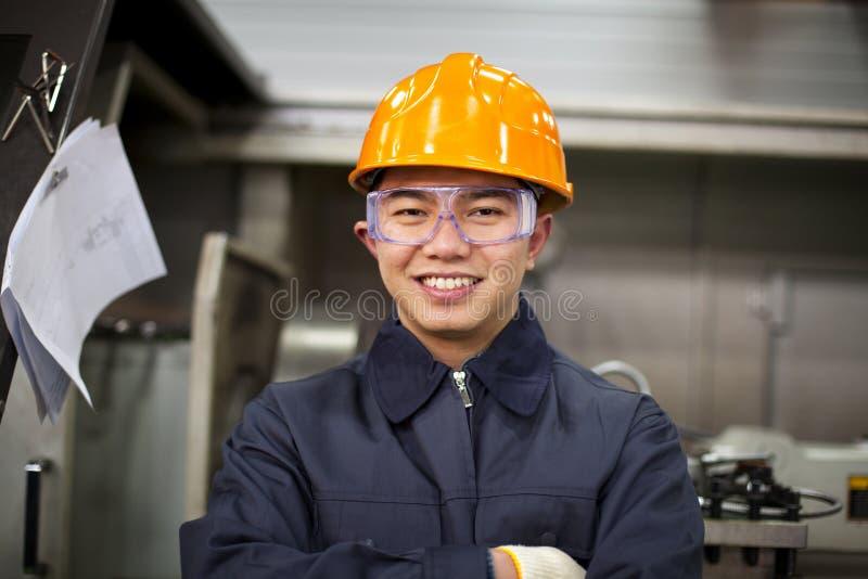 Asian engineer stock image