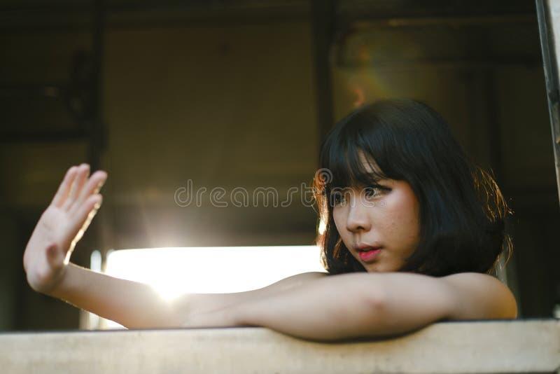 Asian Ethnicity Teen Feminist Posing Lady Girl Concept royalty free stock photos