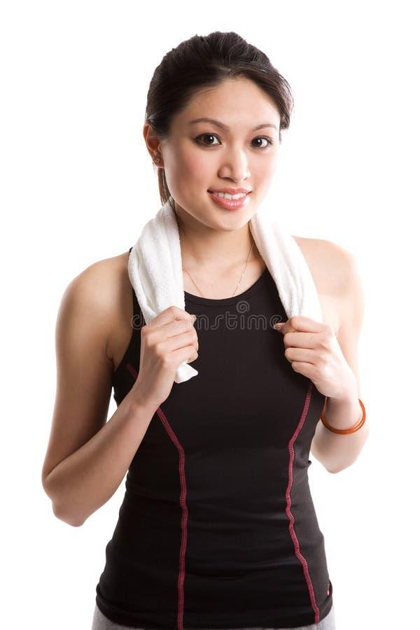 asian exercise woman στοκ φωτογραφία με δικαίωμα ελεύθερης χρήσης