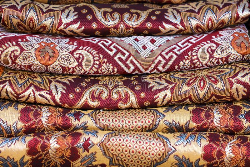Download Asian fabric stack stock photo. Image of souvenir, craft - 24206800