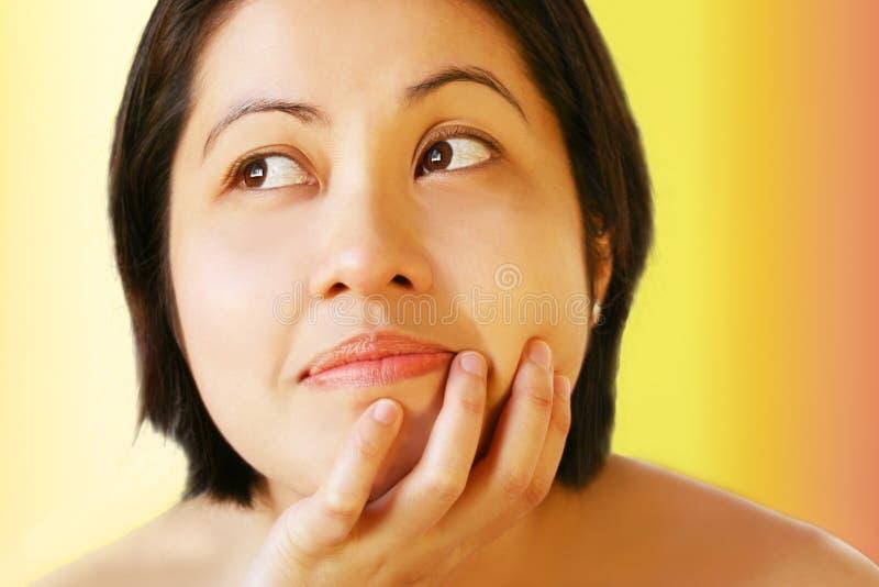 Asian Face Attitude Stock Photography