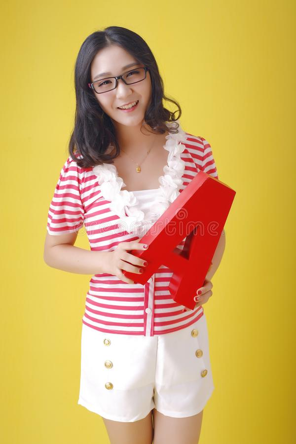 Asian Face English Teacher royalty free stock photo