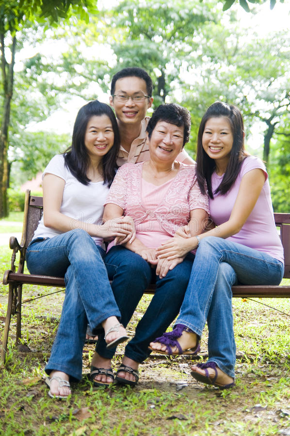 Download Asian family stock photo. Image of together, affectionate - 23653374