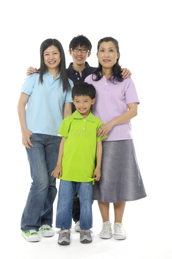 Asian family. An Asian family happy together royalty free stock images