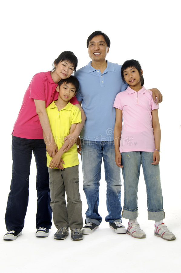 Asian family. An Asian family happy together royalty free stock image