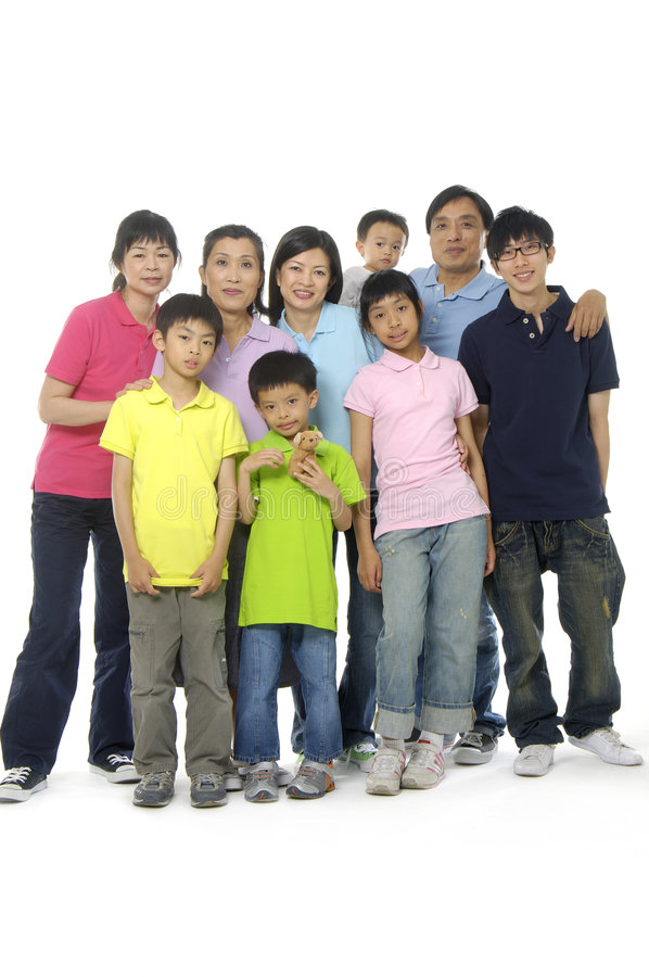 Asian family. An Asian family happy together stock photos