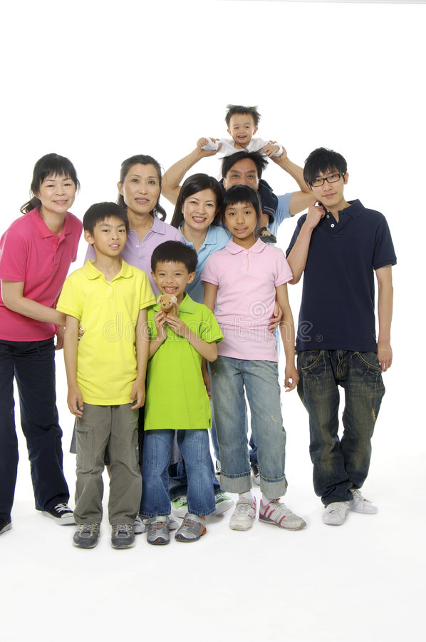 Asian family. An Asian family happy together stock image