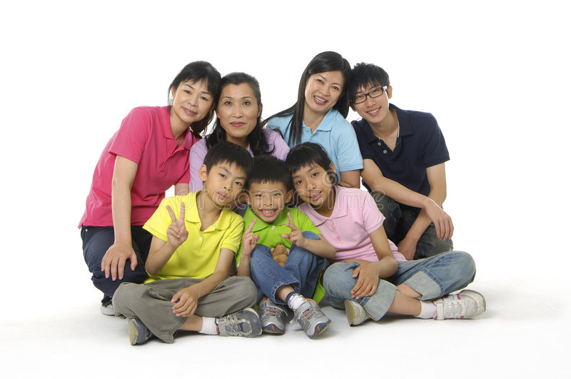 Asian family. An Asian family happy together stock photography