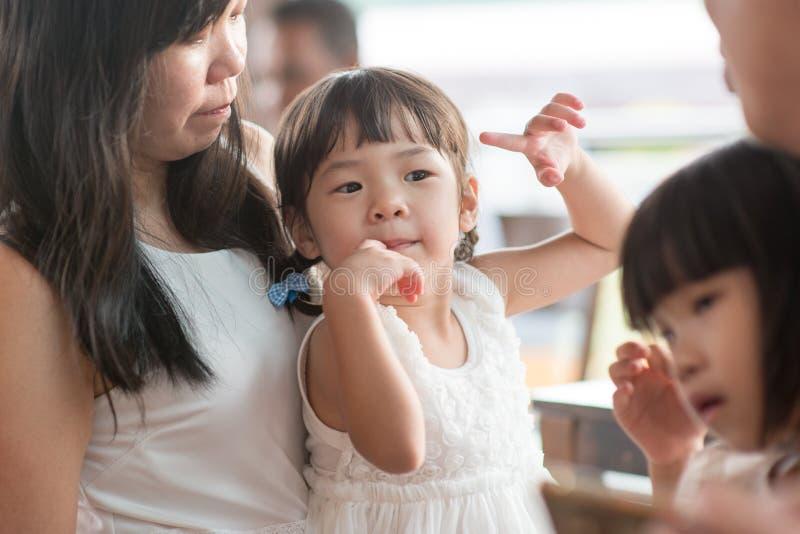 Asian family candid photo stock photos